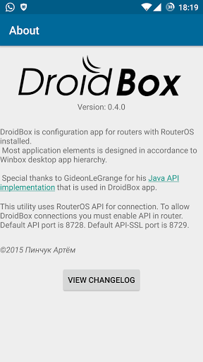 Download DroidBox Mikrotik config tool 0 7 2 APK for Android
