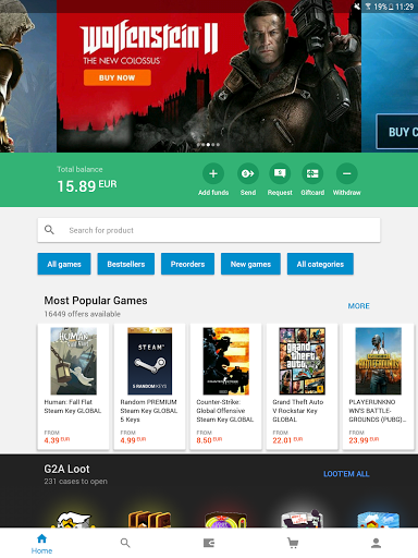 Download G2A - Game Stores Marketplace 1 5 2 APK for Android