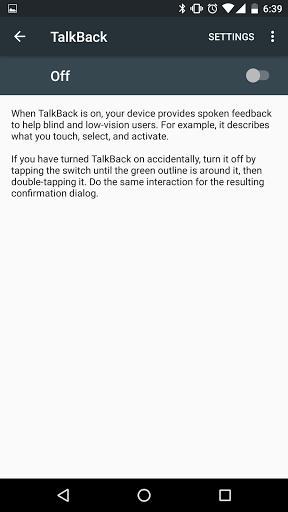 Free download Google TalkBack for Huawei Honor 6X, APK 6 1